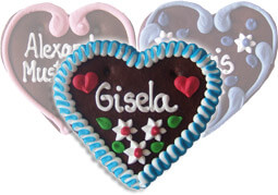 Custom Lebkuchen Heart-Place Card, 12cm