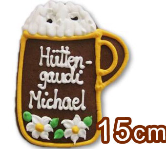 Gingerbread Beer mug Placement Card, 15cm