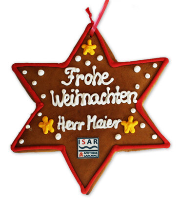 Customized Lebkuchen-Star