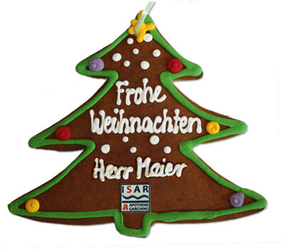 Lebkuchen - Christmas Tree, customized