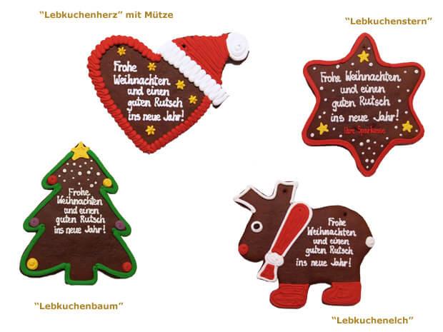 xxl lebkuchen weihnachtsgru indivuell aus 4 verschiedenen lebkuchenformen w hlen. Black Bedroom Furniture Sets. Home Design Ideas