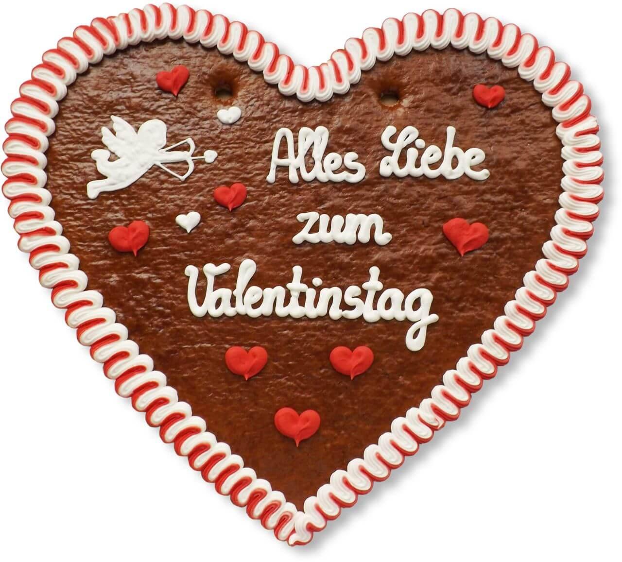 Alles Liebe Zum Valentinstag   Lebkuchenherz XXL 50cm