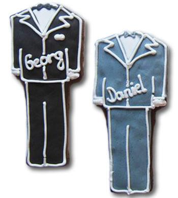 Tischkarten Hochzeitsanzug schwarz oder grau