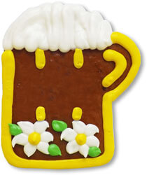 Gingerbread beer mug to design yourself - design example 11cm