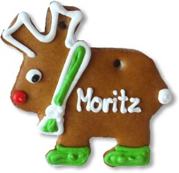 Gingerbread moose blank 12cm - design example
