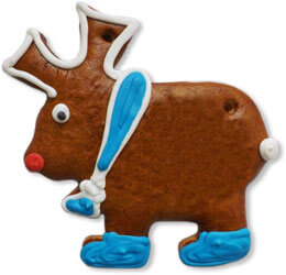 Gingerbread moose blank 15cm - design example