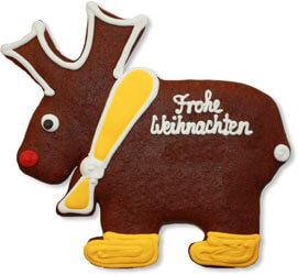Gingerbread moose blank 22cm - design example
