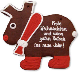 Gingerbread moose blank 42cm - design example