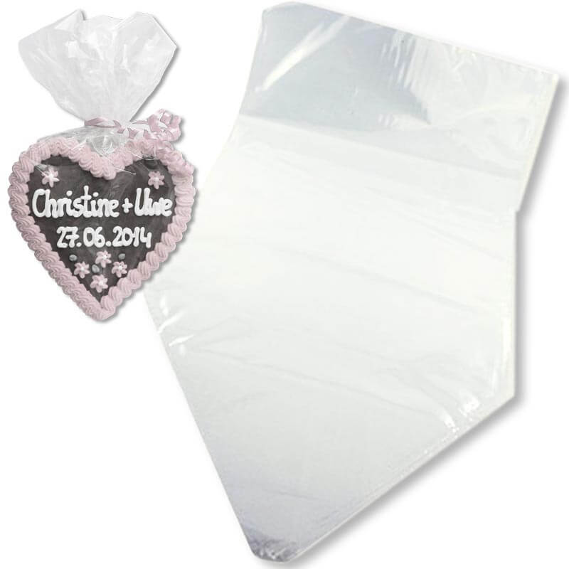 Gingerbread Heart - cellophane bag