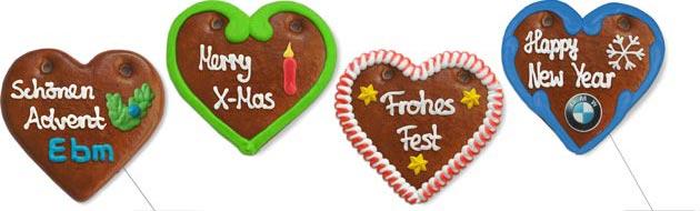 X-Mas Gingerbread Heart 12cm