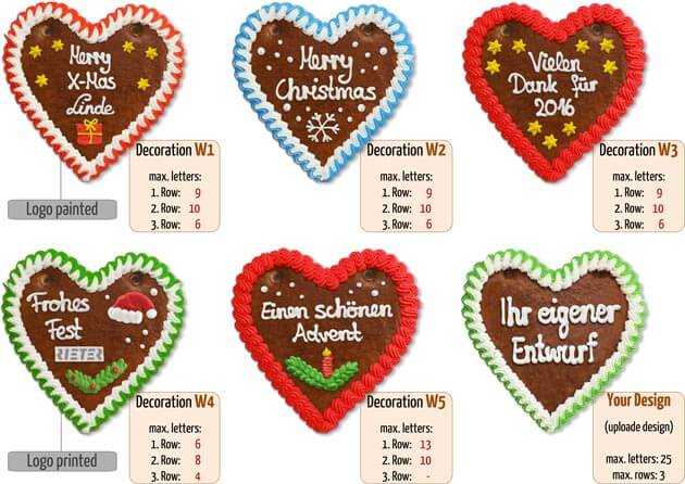 Christmas decorations Gingerbread Heart 16cm