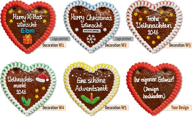 Gingerbread Heart Christmas decorations 18cm