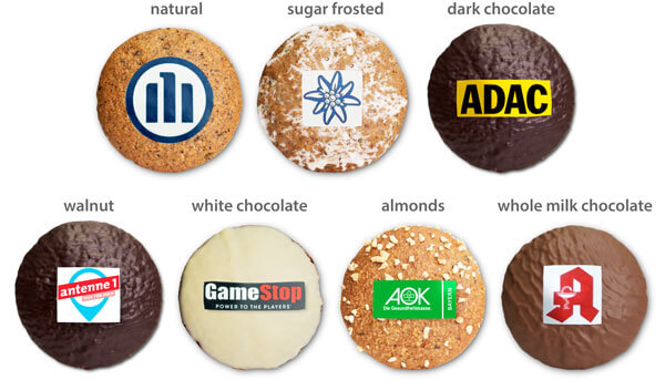 Gingerbread with logo and text