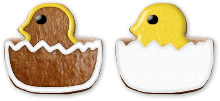 Easter cookie chicken design