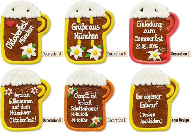 Gingerbread Beer Mug Decoration