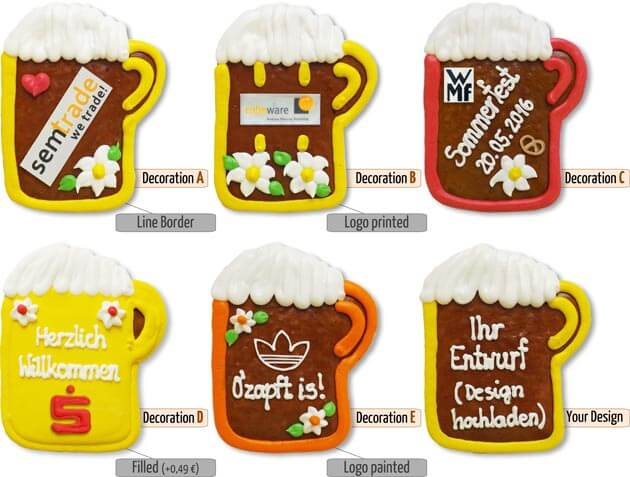 decoration gingerbread beermug