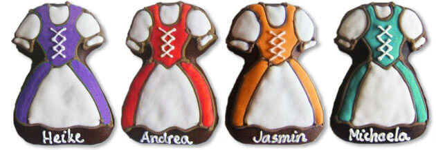 Dirndl Place-Cards Examples