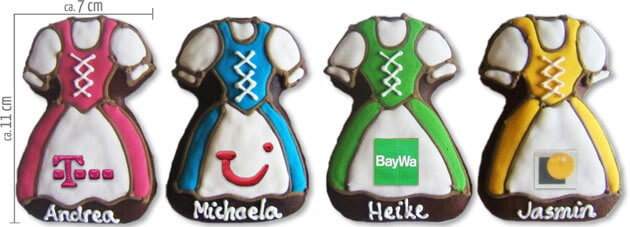 Gingerbread-Dirndl with Logo