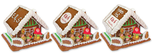 Individual gingerbread house size L with advertising