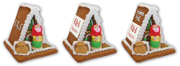 Advertising with a G size gingerbread witch house