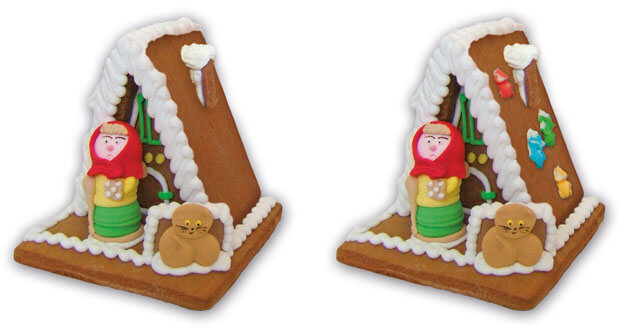 Gingerbread witch house size M - decoration options