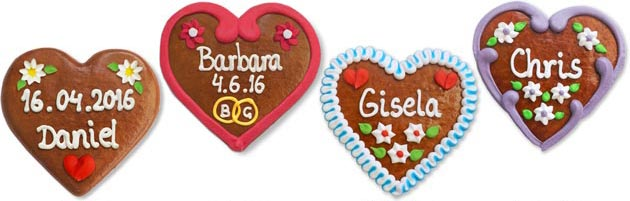 Place-Card Gingerbread Heart 12cm