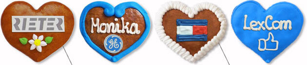 Mini Gingerbread Heart with Logo