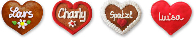 Gingerbread Heart Button Badge