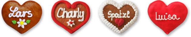Gingerbread Heart Button Badge
