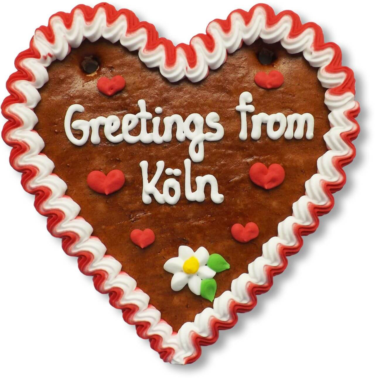 Greetings from Köln - Lebkuchenherz 16cm