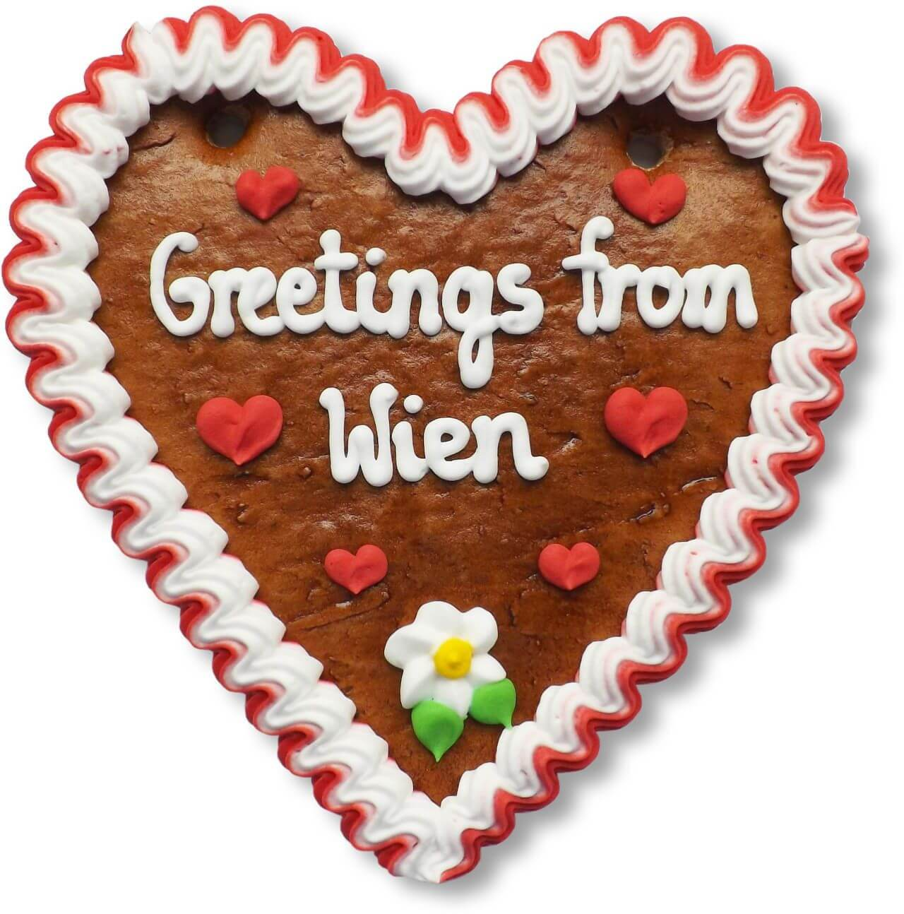 Greetings from Wien - Gingerbread Heart 16cm