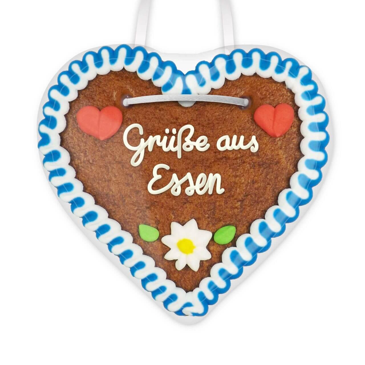Lebkuchenherz Grüße aus Essen - 12cm - Lebkuchen-Markt.de