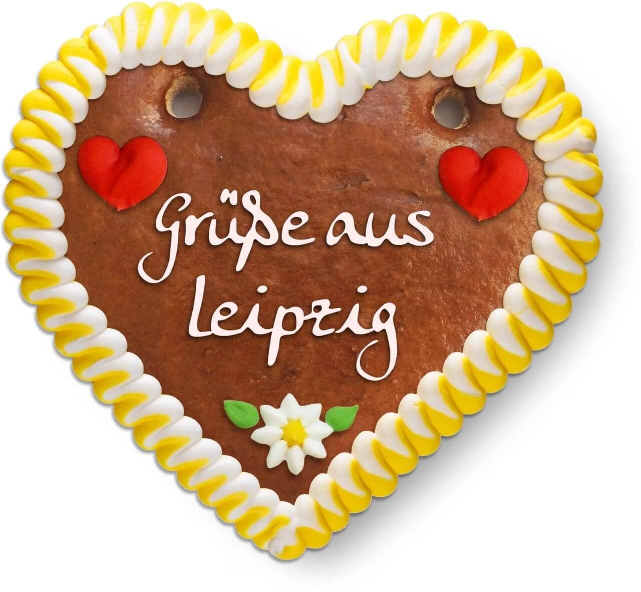 Lebkuchenherz Grüße Aus Leipzig