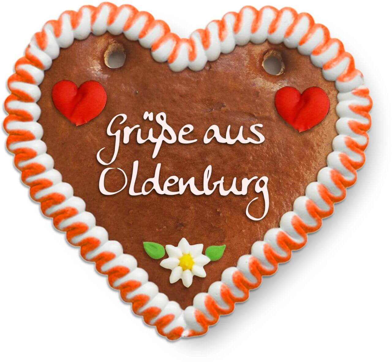 Grüße aus Oldenburg - Gingerbread Heart 12cm