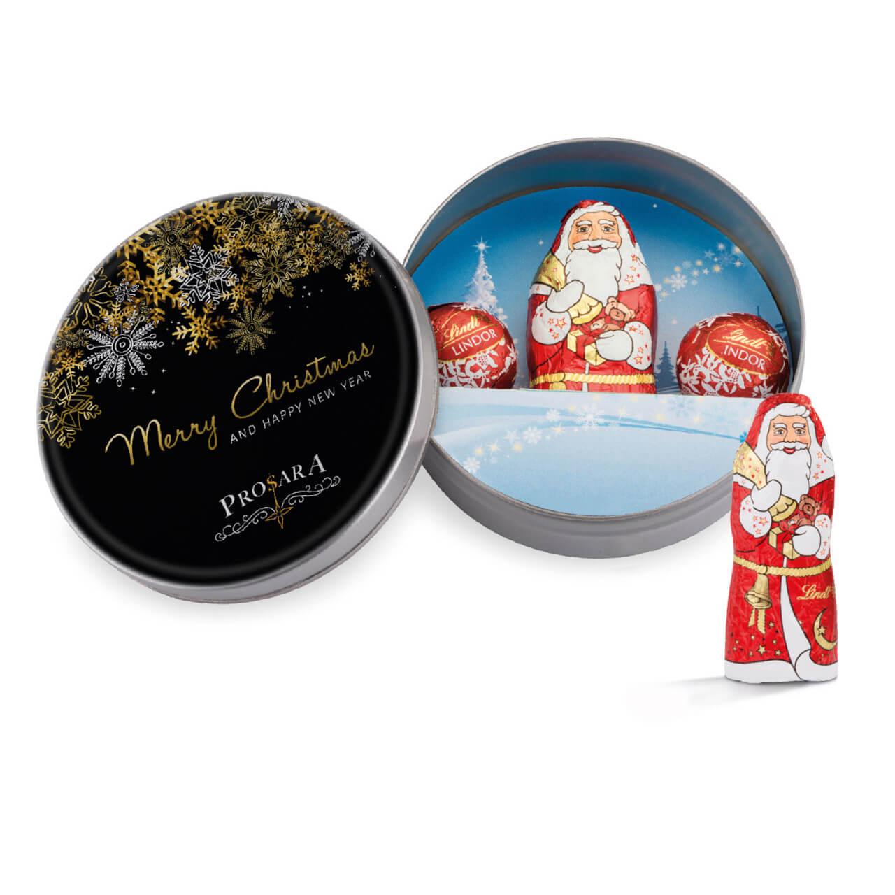 Christmas Tins.Printed Christmas Tins Filled