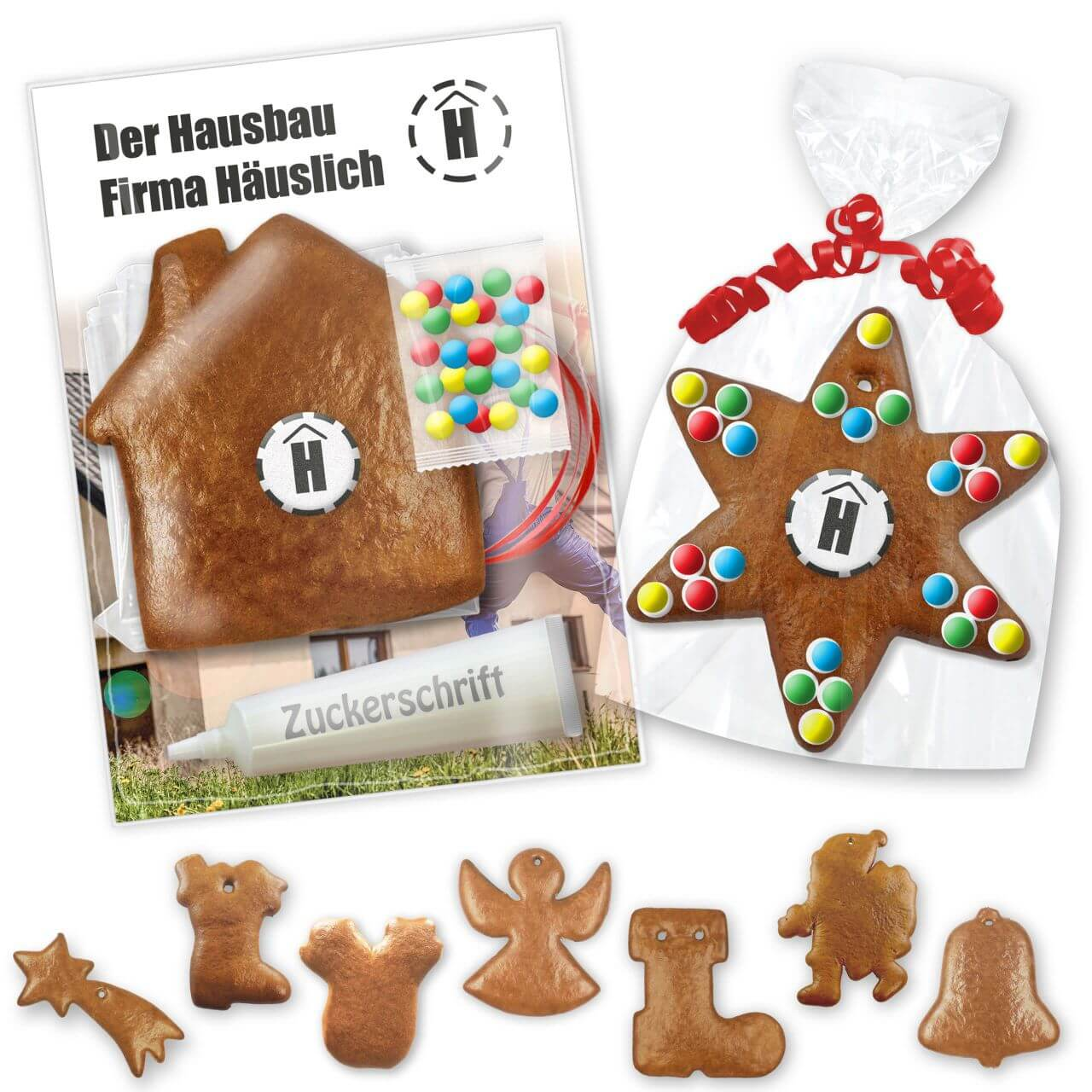Individual Gingerbread Do It Yourself Kits Various Christmas Shapes