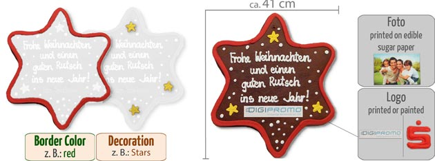 infografic gingerbread star XXL