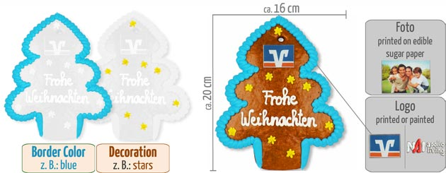 Infographic Gingerbread Christmas Tree 20cm