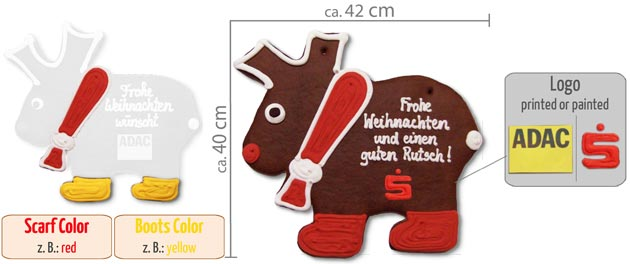 infografic gingerbread moose XXL