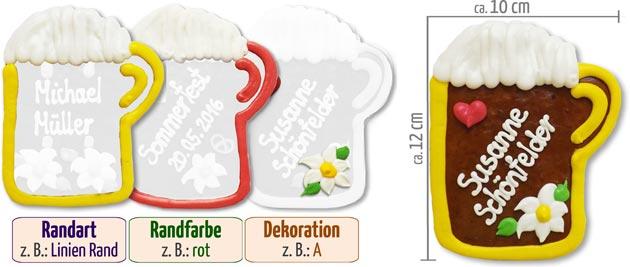 Individuelle Bierkrug Tischkarte
