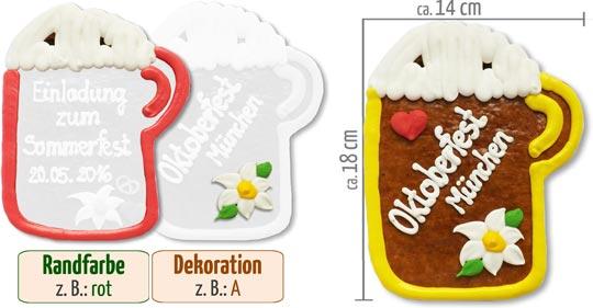So gestalten Sie Ihren individuellen Lebkuchen-Bierkrug 18 cm