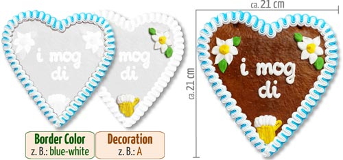 Individual Gingerbread Heart