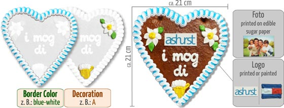Customized Gingerbread Heart Logo
