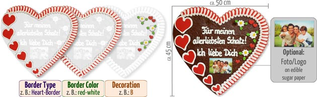 Customized Gingerbread Heart