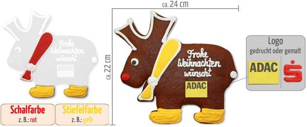 Infografik Elch aus Lebkuchen 22cm