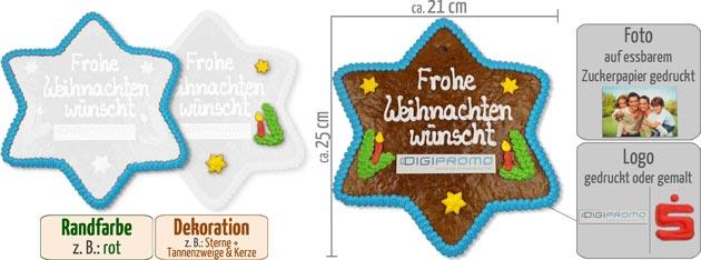 Infografik Lebkuchen Stern 25cm