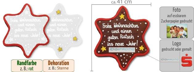 Infografik Lebkuchen Stern XXL