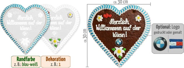 Giveaway Gingerbread Heart 30cm