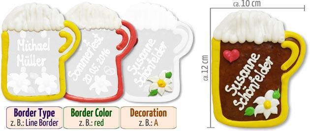 Individual Beermug Placecard