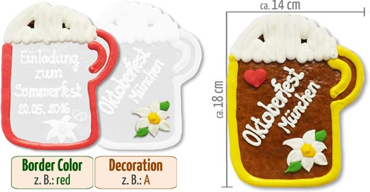 Customized Beermug 18cm